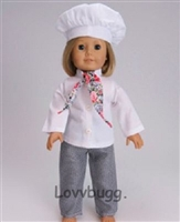 Chef Costume Cook Girl or Boy 18 inch American Girl Doll Clothes