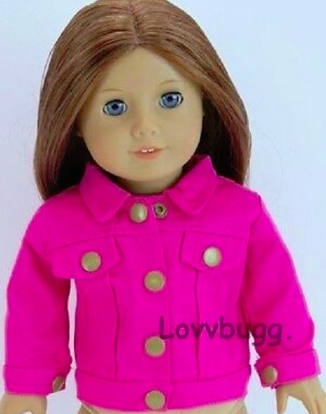buy sale recognized brands the latest Hot Pink Denim Jeans Jacket 18 inch Girl or Bitty Baby 15 inch Doll Clothes