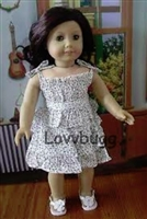 Calico Print Dress for American Girl 18 inch or Bitty Baby 15 inch Doll Clothes
