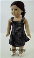 Black Satin Dress 18 inch Girl or Bitty Baby 15 inch Doll Clothes