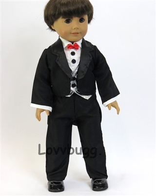 Dressy Tuxedo Suit Set Girl or Boy 18 inch Doll Clothes Logan