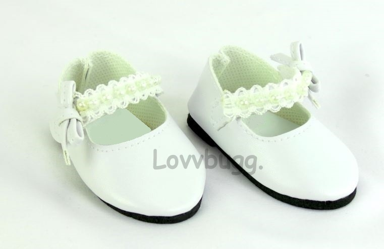 Birthday Gifts for Girls Elastic Laces White Tennis Shoes Shoe for 12-15 inch Doll White Baby Doll Sneakers Doll Accessories