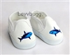 Shark Sneakers Girl or Boy 18 inch or Bitty Baby 15 inch Doll Shoes Clothes