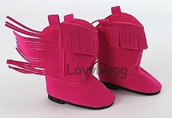 girls pink fringe boots