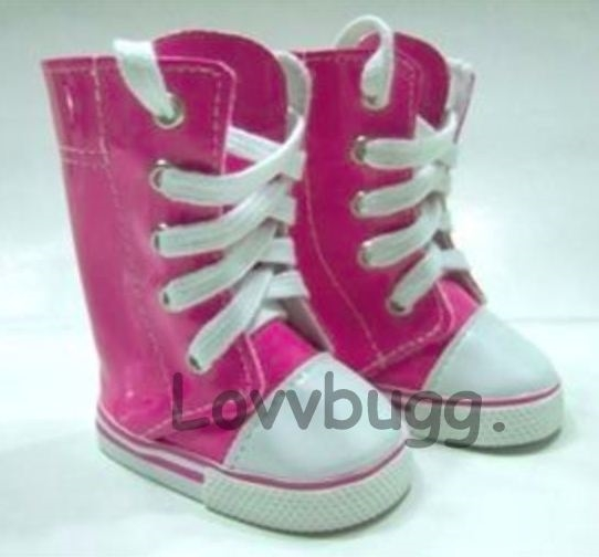 """For 15/"""" 18/"""" American Girl Bitty Baby Doll Hot Pink Sneakers Shoes Accessories"""