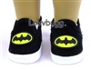 Batman Sneakers Girl or Boy 18 inch or Bitty Baby 15 inch Doll Shoes Clothes