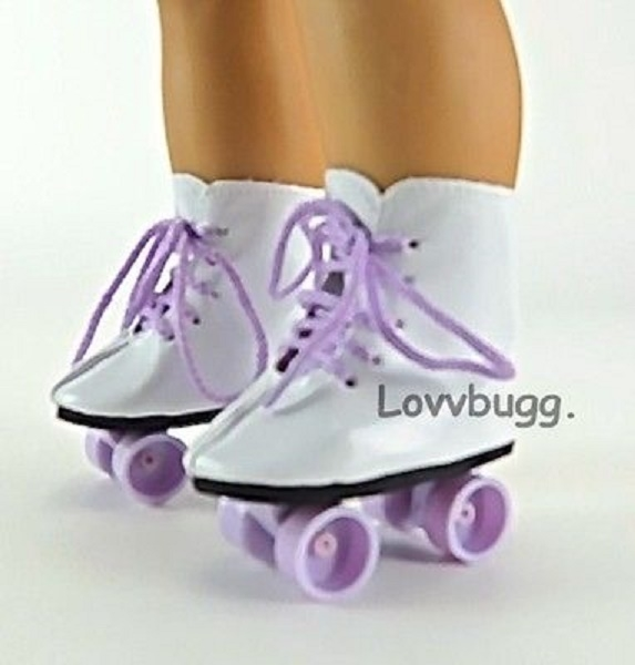 """Doll Clothes For 18/"""" American Girl Roller Skates Outfit w// Skates Lavender"""