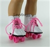 Pink Roller Skates Sports Shoes 18 inch American Girl and Bitty Baby 15 inch Doll Clothes