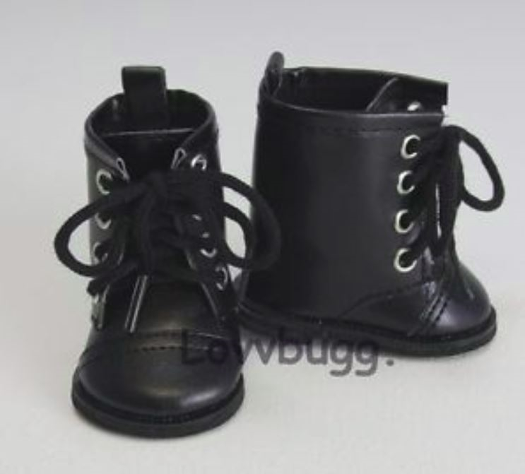 "Black Leather Boots Shoes Made For 18/"" American Girl Doll Clothes"
