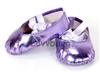 Purple Metallic Ballet Slippers Point Hard-toe 18 inch American Girl or Bitty Baby 15 inch Doll Shoes Costume Clothes