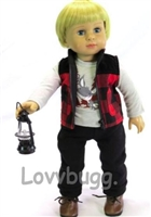 Black Lantern Realistic Miniature 18 inch Girl or Boy Doll Accessory