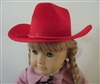 Red Cowboy Hat Girl or Boy 18 inch or Bitty Baby 15 inch Doll Clothes Accessory