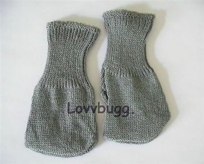 Gray Socks Doll Clothes 18 inch Girl or Bitty Baby 15 inch Doll Clothes Accessory