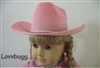 Pink Cowboy Hat Girl 18 inch American Girl or Bitty Baby 15 inch Doll Clothes Accessory