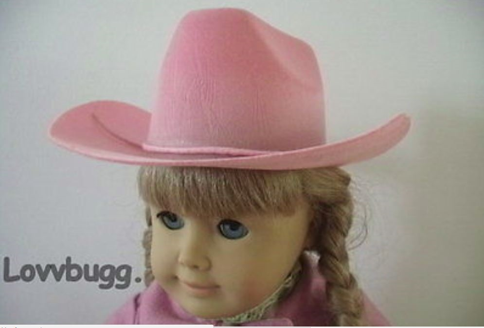 """Doll Clothes 18/"""" Western Cowgirl Hat Teal Fits 18/"""" American Girl Dolls"""