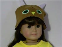 "Brown Owl Hat for 18"" American Girl Doll Clothes"