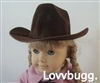 Brown Cowboy Hat 18 inch American Girl or Boy or Bitty Baby 15 inch Doll Clothes Accessory