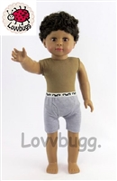 Isaac Black Hair Dark Skin Boy 18 inch Doll Same Quality as Mattel's American Girls