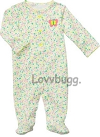 Flowers Sleeper 15 to 18 inch Baby Doll Clothes