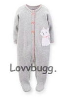 Gray Kitty Cat Sleeper 15 to 18 inch Baby Doll Clothes