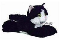 Black and White Cat Pet  18 inch American Girl or Baby Doll Accessory