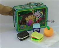 SALE Dora Lunchbox Lunch 18 inch Girl or Wellie Wishers Doll Food School Supplies Accessory