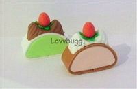 Lovvbugg 2 Slices Cake 14 to 18 inch American Girl Doll Food Accessory