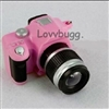 Pink Mini Camera with Light and Sound 18 inch Girl Doll Accessory