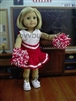 Lovvbugg Red Cheerleader 18 inch American Girl or Bitty Baby 15 inch Doll Clothes