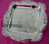 Silver Tray 18 inch American Girl or Wellie Wishers Doll Food Accessory