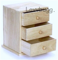 Chest of Drawers Unfinished Wood Furniture 18 inch American Girl or Wellie Wishers Doll Accessory