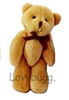 Small Jointed Velvet Teddy Bear 18 inch American Girl or Baby or Wellie Wishers Doll Accessory