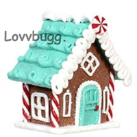 Green Roof Gingerbread House for 18 inch American Girl Doll Holiday Food