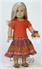 Boho Skirt Complete Full Set with Jewelry 18 inch American Girl Julie Doll Clothes