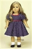 Navy Blue Dress Set 18 inch American Girl Doll Clothes