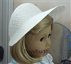 White Straw Poke Bonnet Hat 18 inch American Girl or Baby Doll Clothes Accessory