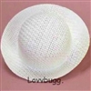 White Straw Hat 15 to 18 inch American Girl Baby Doll Clothes Accessory