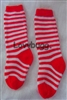 Red Stripe Socks Soccer St Lucia 15 to 18 inch American Girl Baby Doll Clothes Accessory