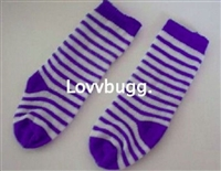 Blue Stripe Soccer Socks 15 to 18 inch Girl Baby Doll Clothes Accessory