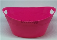 Hot Pink Laundry Basket Tub 15 to 18 inch American Girl Baby Doll House Accessory