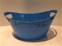 Blue Laundry Basket 15 to 18 inch American Girl Baby Doll House Accessory