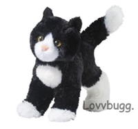 Black and White Plush Kitty Cat 15 to 18 inch American Girl Doll Pet Accessory