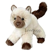Himalayan Siamese Plush Kitty Cat for American Girl 18 inch Doll Pet Accessory