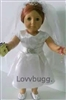Communion Dress Complete Set with Shoes Bible and Rosary 18 inch Girl Doll Clothes