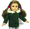Dark Green Jacket Coat 18 inch Girl or 15 inch Baby Doll Clothes