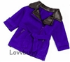 No Turning Back Blue Jacket Coat 18 inch Girl or 15 inch Baby Doll Clothes