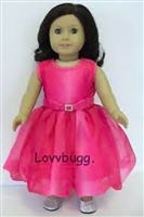 Full Set Ombre Pink Dress and Shoes18 inch American Girl or 15 inch Baby Doll Clothes