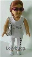 Yoga Lovv Complete Set Shoes Purse 18 inch American Girl Doll Clothes