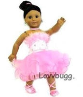 Prima Ballerina Set 18 inch American Girl or 15 inch Baby Doll Clothes