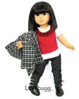 Urban Chic Black Jeans Pants Jacket Coat 18 inch American Girl Doll Clothes